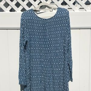 OLD NAVY CASUAL COTTON KNIT DRESS GEOMETRIC DESIGN